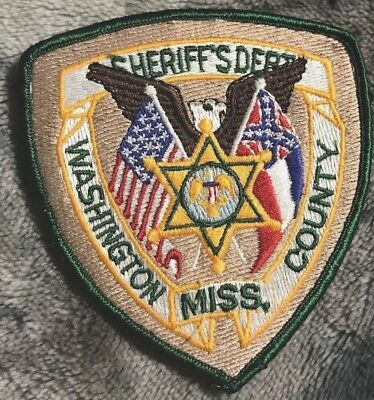 "vintage~WASHINGTON COUNTY MISS SHERIFF DEPT"" PATCH ms MISSISSIPPI POLICE OFFICER"