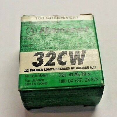 ITW Ramset 32CW 100pk .22 Caliber Green Fastener Load