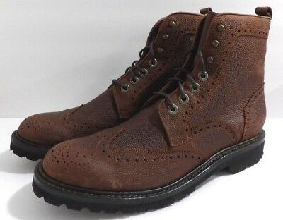 12d896a7531 NIB WOLVERINE PERCY Mens Brown Wingtip Leather Lace up Boots Size 9.5 M
