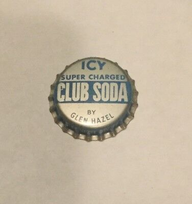 Vintage Icy Super Charged Club Soda cork lined soda bottle cap