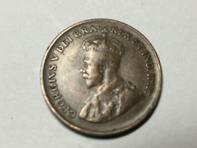 CANADA 1932 1 cent coin nice condition