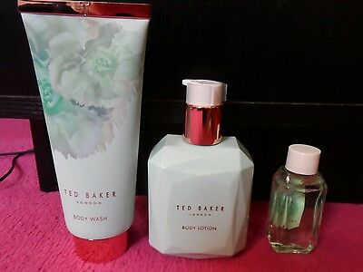 ted baker body wash, lotion, bubble bath