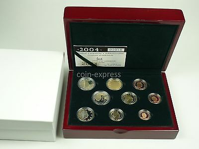 *** EURO KMS LUXEMBURG 2004 PP nur 1500 St 2 x 2 Euro Münze Luxembourg Coin Set