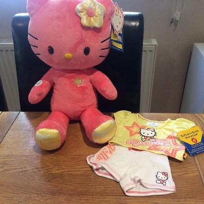Build A Bear Factory Rare & Htf Sunshine Bday Hello Kitty & Dance Outfit Bnwt