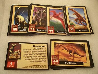 ESCAPE of the DINOSAURS  Complete Trading Card Set