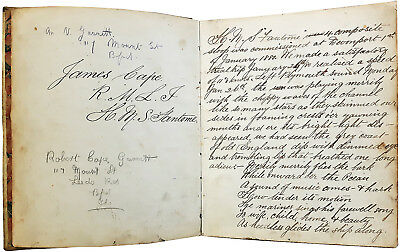 1880-1883 HMS Fantome - WEST INDIES - MARINER'S JOURNAL - Lord Cavendish Murder