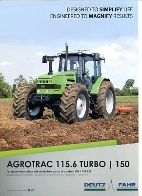Deutz-Fahr Agrotrac 115.6 Turbo + brochure PROSPEKT + SÜDAFRIKA + South Africa