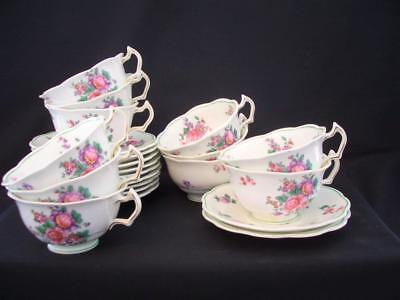 George Jones Crescent China patt 19854 - 2 Tea Cups & Saucers  *more items avail