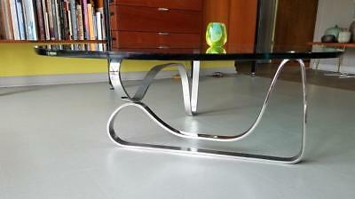 S MCM ABSTRACT Sculptural Chrome Coffee Table Noguchi Baughman - Noguchi inspired coffee table