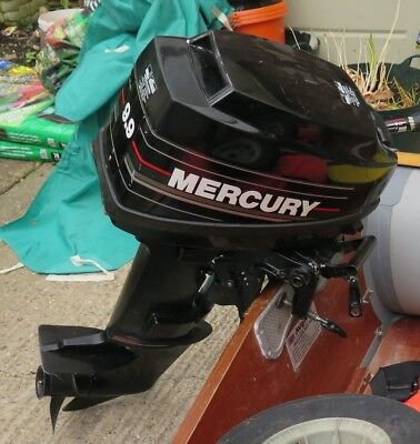 MERCURY 9 9 HP S/Shaft OUTBOARD MOTOR 2 STROKE 1989 - 60 HOURS USE