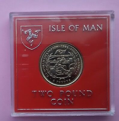 ISLE OF MAN 1993 £2 coin - NIGEL MANSELL Formula One (uncirculated two pounds)