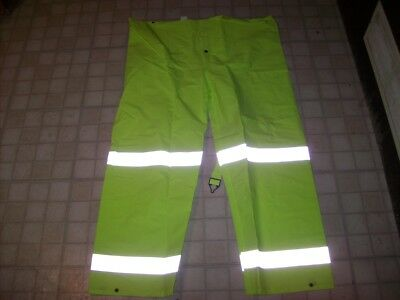 Reflective Rain Waterproof Safety PVC High Visibility Pants Full Repel 3X-Large