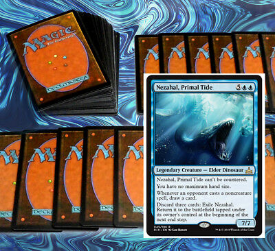 mtg BLUE GREEN STANDARD DECK Magic the Gathering rares 60 cards DOM