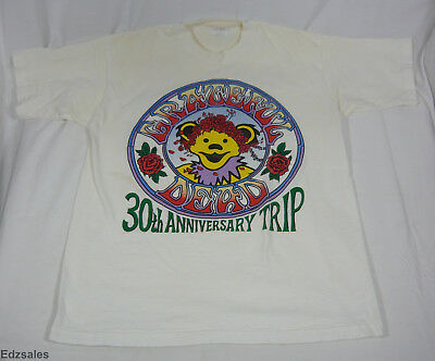 Vintage Grateful Dead 30th Anniversary Trip 1995 Summer Tour Concert Shirt