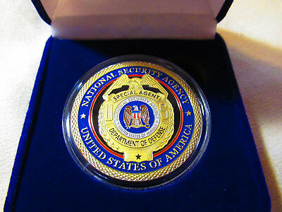 National Security Agency Challenge Coin w/Presentation Box