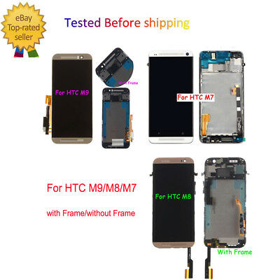 OEM Replacement For HTC M9/M8/M7 LCD Touch Screen Digitizer Assembly / Frame @1H