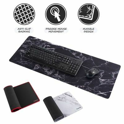 "Non-Slip XXL 31.5"" x 12"" Marble Mouse Pad Keyboard Gaming Computer PC Desk Mat"
