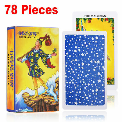 78Pcs Rider Waite Tarot Deck Cards English Full Version Divination Board Games