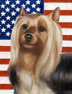 Garden Indoor/Outdoor Patriotic II Flag - Silky Terrier 321021
