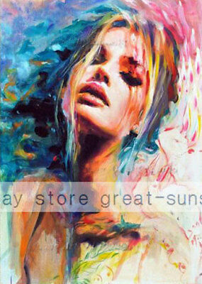 LMOP556 abstract modern sexy girl portrait hand painted art oil painting canvas