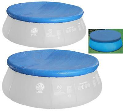 Jilong Round Swimming Pool Cover Easy Fast Set Paddling Sheet Debris W Rope Ties
