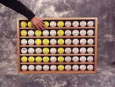 Baseball / Hockey Puck Display Case 60 with Acrylic Doors Ball or Pucks Holds 60