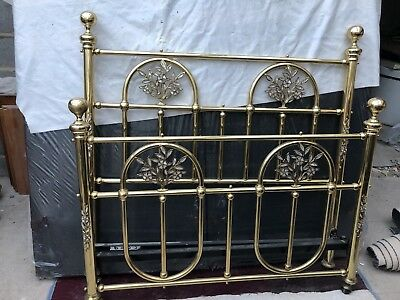 And So To Bed Chester Mother Of Pearl Double Brass Bedstead