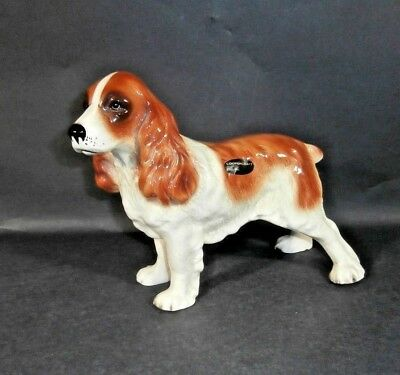 Large Ceramic SPANIEL Dog by COOPERCRAFT Made in England Light Brown & White