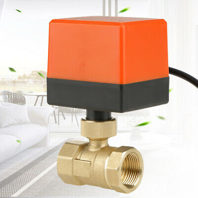 "Motorized Ball Valve Electrical Valve DN20 G3/4"" 12V 3-wires/2 Way"
