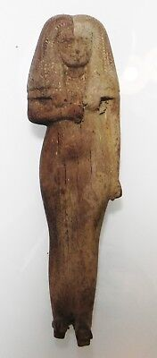 Zurqieh - As5374- Ancient Egypt, New Kingdom Wood Female Figure, Beautiful!