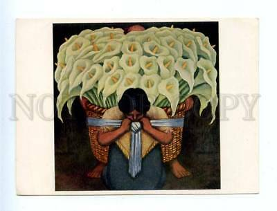 153972 Arumbluten FLOWERS by Diego RIVERA Old Colorful PC