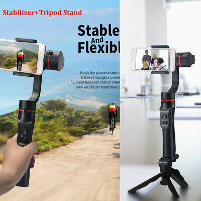 Mini Folding Tripod Stand + 360° 3-axis Handheld Gimbal Cell Phone Stabilizer