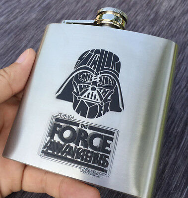 Star Wars Force Awakens Vader Stainless Steel Hip Themed Flask Flachmänner 6oz