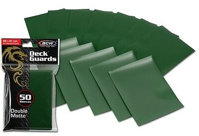 100 Double Matte Deck Guard Card Sleeves BCW Green