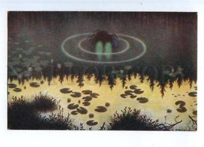 177978 ART NOUVEAU Pond by KITTELSEN Vintage color PC
