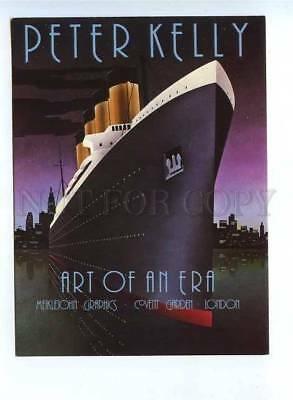 179615 Art of an era Liner by Peter Kelly old postcard