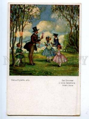 177450 Inherit Uncle by DEBUS-DIGNEFFE Vintage ART NOUVEAU PC