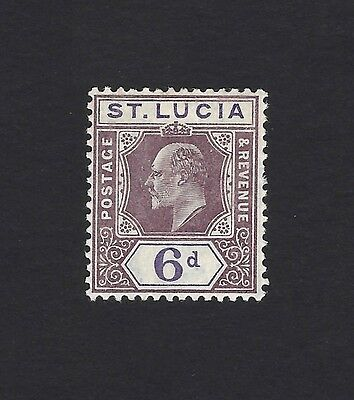 St Lucia 1904-10 6d dull purple SG 73 LMM