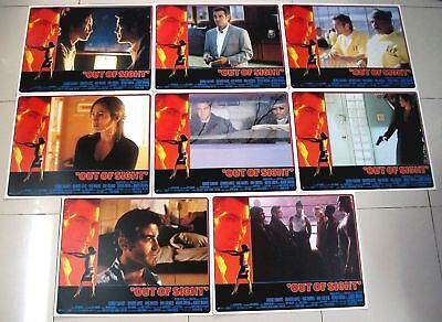 Out of Sight 11x14 US Lobby Card Set of 8 Clooney Lopez