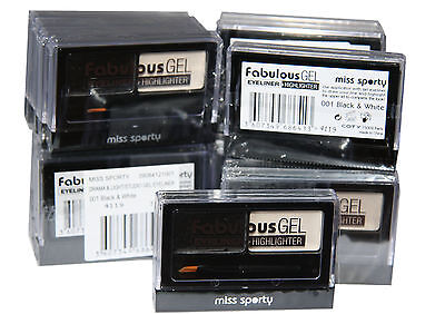 24 x Miss Sporty Fabulous Gel Eyeliner and Highlighter | Black and White