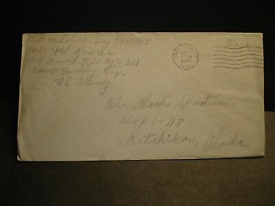 APO 261 CAMP BARKELEY, TEXAS 1943 WWII Army Cover 91st RECON, 11th ARMORED Div