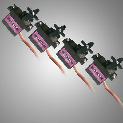 4pcs Metal Gear 9g Micro RC Servo for Align Trex 450 RC Helicopter Airplane S
