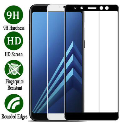 For Samsung Galaxy A6 A8 A8+ 2018 Full Cover 9H Tempered Glass Screen Protector