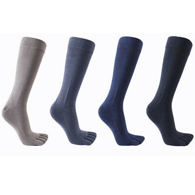 Mens Football Solid Long Toe Socks Sport Knee High Hockey Soccer Rugby Socks
