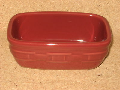 Longaberger Paprika Red Pottery Dash Bowl MINT condition never used FREE SHIP!