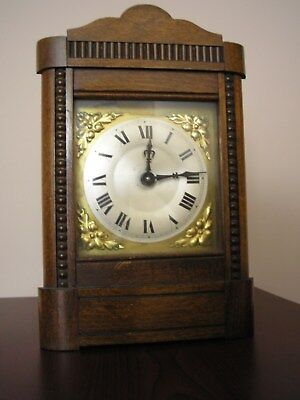 Small Antique Hac Striking Mantle Clock For Spares Or Repairs