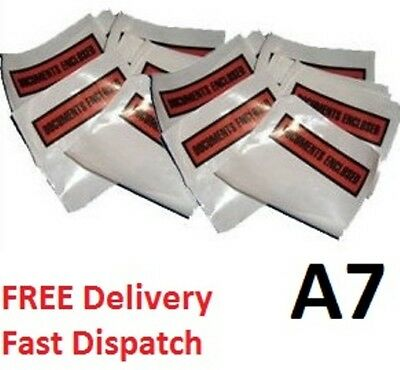 Document Enclosed Envelope Wallets - A7 Printed Slips Doc 123 x 110 mm