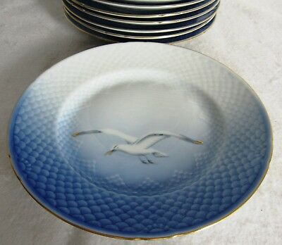 "8 Bing & Grondahle Seagull 8 1/2"" Luncheon Plates #26"