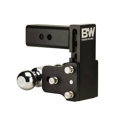 B&W TS20037B Tow and Stow 2.5 Inch Shank Dual Ball Hitch Mount with 5 Inch Drop