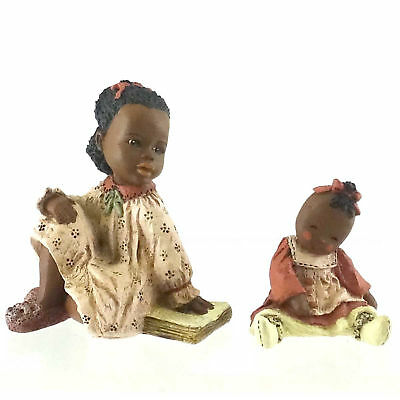 All Gods Children ALEXANDRIA/LINDY Polyresin African American Black Club 1575S